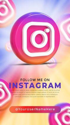 Social Media Icons, Follow Me On Instagram, Logos, Advertising, Logo, Social Icons