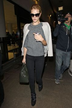 Spotted at LAX airport, Los Angeles, wearing an Isabel Marant jumper Getty Images