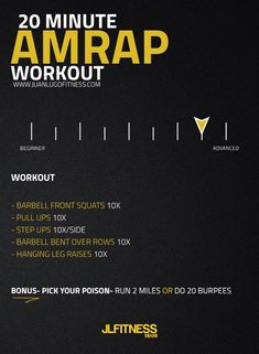20 Minute AMRAP WORKOUT- At the end of the workout you get to choose if you want to do the bonus section of the workout. If you're new to AMRAP workouts, go to: https://juanlugofitness.com/amrap-workouts/ to learn more. #amrap #workouts #jlfitnessmiami #metcon