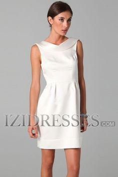 Sheath/Column Jewel Satin Bridesmaids Dresses