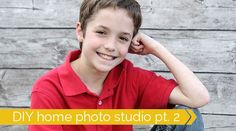 Learn to take great photos of your kids in your own home with an easy DIY home photo studio. 10 different setups (backgrounds) are explained with pullbacks. Toddler Photography Tips, Home Studio Photography, Photography Backdrops, Photography Tutorials, Photography Ideas, Photography Equipment, Diy Photo Studio, Photo Tips, Photo Ideas