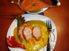 Friptura de porc la cuptor cu sos de ardei - Idealika