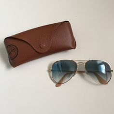 original ray ban case  NWB Ray Ban Aviator Sunglasses Orange Mirror Lens Boutique ...