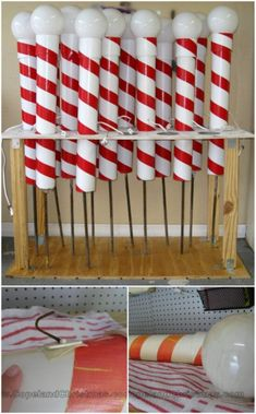 20 Impossibly Creative DIY Outdoor Christmas Decoration - I absolutely love decorating for Christmas! I also love changing up my decorations from time to tim - Gingerbread Christmas Decor, Outside Christmas Decorations, Christmas Candy, Christmas Lights, Holiday Decor, Christmas Ideas, Outdoor Candy Cane Decorations, Decorating For Christmas Outdoors, Best Outdoor Christmas Decorations