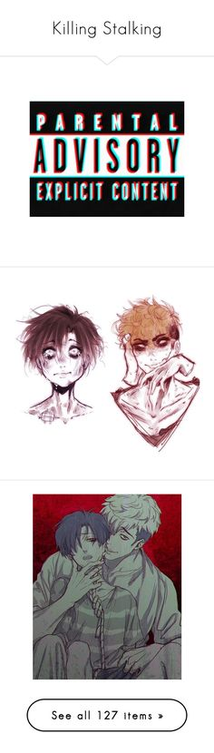 """""""Killing Stalking"""" by breeze-flarus ❤ liked on Polyvore featuring fillers, words, quotes, text, backgrounds, saying, effect, phrase, intimates and panties"""
