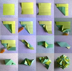 Units: 30 Paper: cm Final height: ~ 8 cm Joint: no glue Origami Cube, Cute Origami, Kids Origami, Origami And Kirigami, Origami Ball, Origami Paper Art, Modular Origami, Origami Instructions, Origami Tutorial