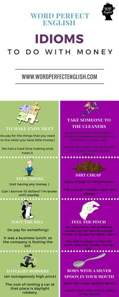 Idioms to do with Money 1/2 More