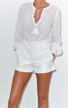 French Lace Geeti Blouse by TALITHA for Preorder on Moda Operandi