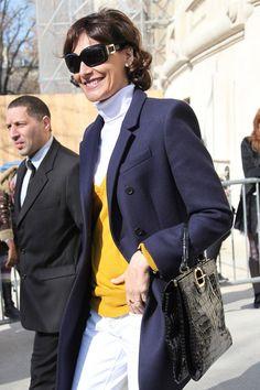 Ines de la Fressange - Stars Arrive at the Chanel Fashion Show - Fall-winter 2012 fashion week in Paris