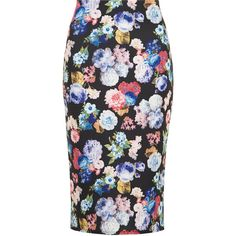 Dorothy Perkins Floral Pencil Skirt found on Polyvore