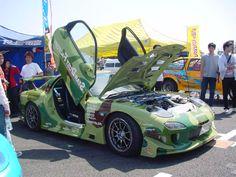 Green camo drift car