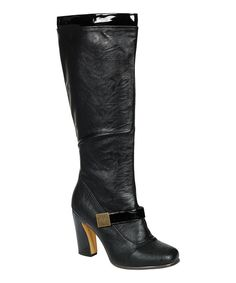 Take a look at this Black Alta Buckle Boot on zulily today!