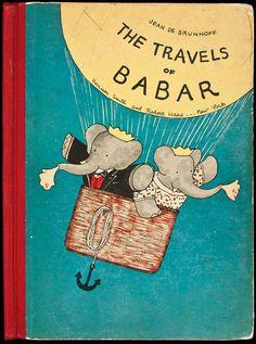 Primeira edição em inglês das viagens de Babar, 1934