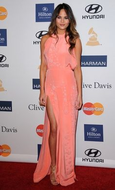 Chrissy Teigen Photos Photos - Clive Davis and The Recording Academy's 2013 Pre-GRAMMY Gala..Beverly Hilton Hotel, Beverly Hills, CA..February 9, 2013..Job: 130209A2..(Photo by Axelle Woussen)..Pictured: Christine Teigen... - Clive Davis 2013 Pre-GRAMMY Gala