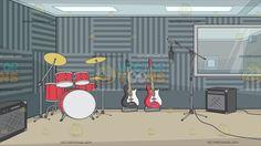 recording studio padded walls vectortoons sound grey