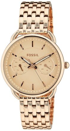Fossil Women's ES3713 Tailor Multifunction Rose Gold-Tone Stainless Steel Watch -- Check this awesome watch by going to the link at the image.