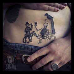 damienelectrictattoo:  underbelly tattoo on maudit caillou designr from russian stuff love www.mauditcaillou.com www.damienelectrictattoo.co...