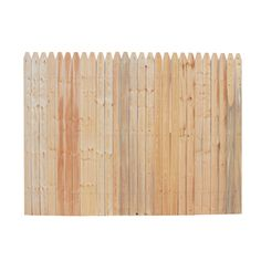 Spruce Stockade Wood Fence Picket Panel (common: 6-ft X 8-ft; Actual: 6-ft X…