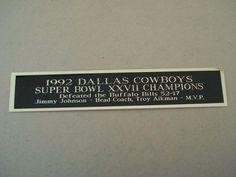 Dallas Cowboys Super Bowl 27 Nameplate for a Football Jersey Case X 8 for sale online Super Bowl 27, 49ers Super Bowl, Miniature Cow Breeds, Miniature Cows, Football Jerseys, Football Helmets, Jimmy Johnson, Troy Aikman, Joe Montana