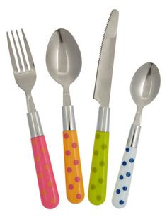 Polka dot flatware...perfect for picnics!