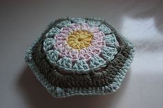 * 3 * * pincushions * - crochet version of a hexipuff?