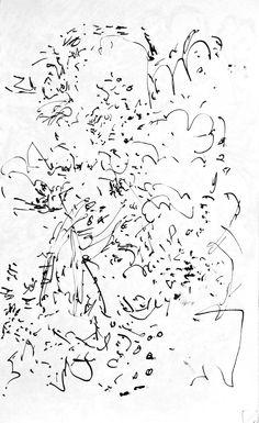 D1977/1979-82 ~ Mark Kielkucki apx 5 x 7 inches Ink on paper  More drawings here: http://www.kielkucki.com/drawings.htm