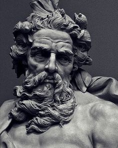 Bust of Neptune LACMA Collections. #artist #art #sculpture