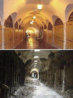 Foto's van Aleppo toen en nu: hoe een ooit schitterende stad door oorlog is verwoest