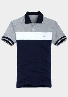 Men's Short Sleeve POLO Shirt Polo Rugby Shirt, Polo T Shirts, Short Sleeve Polo Shirts, Cool Shirts, Men's Polos, Moda Converse, Polo Shirt Outfits, Corporate Uniforms, T Shirt Time