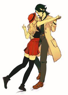 professor sycamore and serena pok233mon fanart pokemon