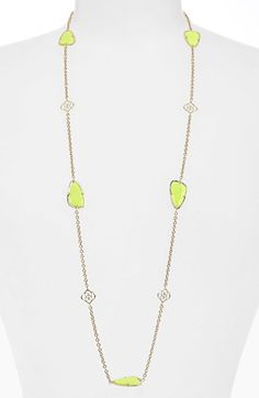 Kendra Scott 'Kinley' Long Station Necklace (Nordstrom Exclusive) available at #Nordstrom