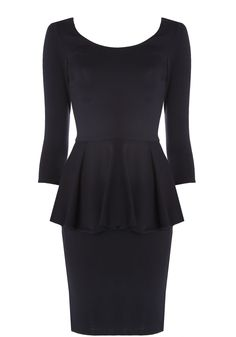 The perfect peplum: The Amanda Slim Peplum Dress!!