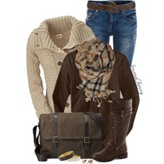 """""""Jeans and Knee High Boots"""" by immacherry on Polyvore"""