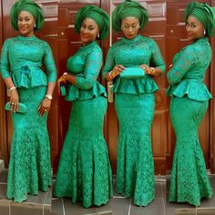Step up your Aso-Ebi Style Game: Unleashing Sexy, Beautiful, & Flattering Aso Ebi Styles That Will Leave you Speechless - Wedding Digest Naija African Lace Styles, African Lace Dresses, African Dresses For Women, African Attire, African Wear, African Clothes, African Women, African Outfits, African Style