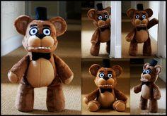 Five Nights At Freddy's - Freddy Fazbear - Plush by roobbo.deviantart.com on @DeviantArt
