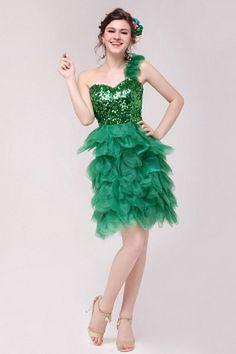 One-shoulder Sheath-Column Organza Formal Dress wr2554 - http://www.weddingrobe.co.uk/one-shoulder-sheath-column-organza-formal-dress-wr2554.html - NECKLINE: One-shoulder. FABRIC: Organza. SLEEVE: Sleeveless. COLOR: Green. SILHOUETTE: Sheath/Column. - 145
