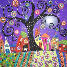 folk art paintings | patternprints journal: NAIF PATTERNS IN FOLK PAINTINGS BY KARLA GERARD