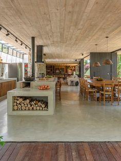ANEXO CHALÉ MAIRIPORÃ — Macro Arquitetos Dream Home Design, Home Interior Design, Interior Architecture, Interior Ideas, House Outside Design, Home And Living, Future House, House Plans, Sweet Home