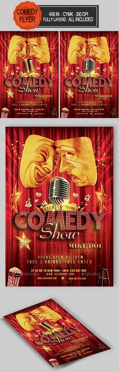 Stand Up Comedy Night Flyer Templates Pinterest Comedy - comedy show flyer template