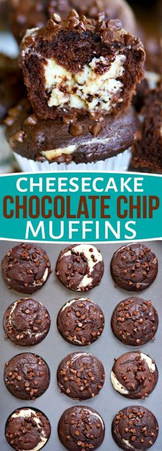 Breakfast has never been this decadent or delicious! Treat your family to Cheesecake Chocolate Chip Muffins. Breakfast has never been this decadent or delicious! Treat your family to Cheesecake Chocolate Chip Muffins. No Bake Desserts, Easy Desserts, Dessert Recipes, Dishes Recipes, Baking Desserts, Chocolate Chip Muffins, Chocolate Chips, Chocolate Lovers, Chocolate Cream Cheese Muffin Recipe