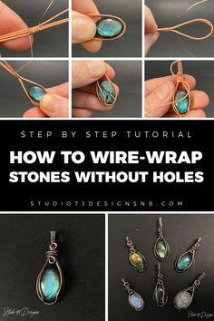 Wire Jewelry Designs, Handmade Wire Jewelry, Jewelry Crafts, Wire Jewelry Patterns, Bijoux Wire Wrap, Wire Wrapped Jewelry, Wire Wrapped Stones, Wire Wrapped Pendant, Wire Jewelry Making