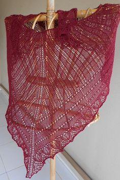 Ravelry: knitsabout's heart shaped shawl lace weight