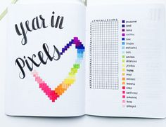 2019 Bullet Journal Set Up For Your Best Year Yet! – Sidereal Life - - Are you ready for Find out how to plan your 2019 bullet journal set up for your BEST year yet using creative planning! Bullet Journal Goals Page, Bullet Journal For Beginners, January Bullet Journal, Bullet Journal Lettering Ideas, Bullet Journal Notes, Bullet Journal Spread, Bullet Journal Year In Pixels, Bullet Journal Yearly Overview, Bullet Journal How To Start A Layout
