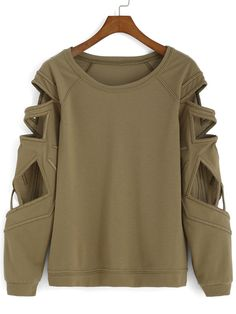 Bat Sleeve Hollow Green T-shirt Mobile Site