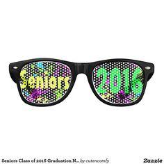Seniors Class of 2016 Graduation Neon Paint Splash Wayfarer Sunglasses
