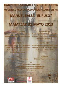 """Bilboko Berreginen Museoan, zapatu honetan Manuel Balsa """"El Ruso"""" kanpoko akuarela lehiaketa izango da.  https://www.facebook.com/photo.php?fbid=813862838643406&set=a.127097390653291.16967.114172608612436"""