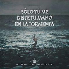 Eres mi paz en miedo de la tormenta