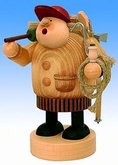 RETIRED KWO Lumberjack German Incense Smoker