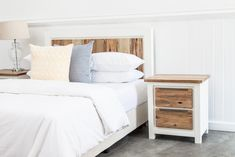 Made with sturdy Acacia wood and beautiful design features such as a lighter wood colour and minimalist finishes make the Mokka bed the easy choice for a modern decorating theme. Full Bed, Sleep Tight, Large Bedroom, Acacia Wood, Queen Beds, Quality Furniture, Dining Furniture, Wood Colors, Modern Decor