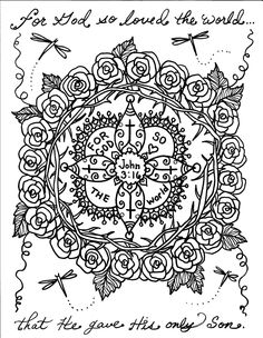 Coloring BOOK Scripture mandalas Art for the Soul by ChubbyMermaid